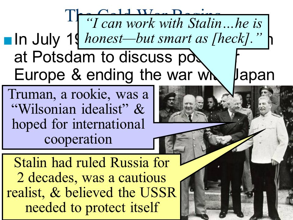 I can work with Stalin…he is honest—but smart as [heck].